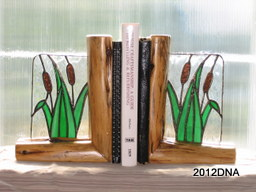 Cattail Bookends