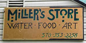 Miller's Store Sign